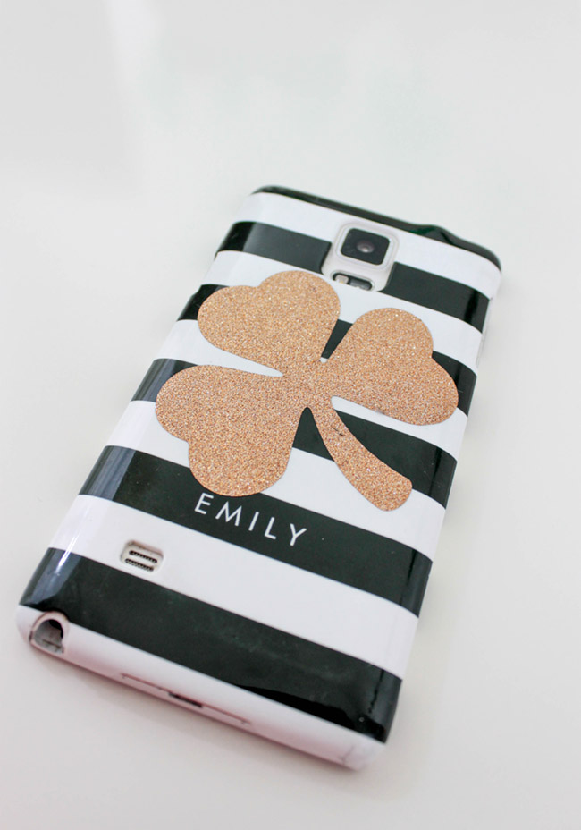 DIY Shamrock Phone Cover - B. Lovely Events