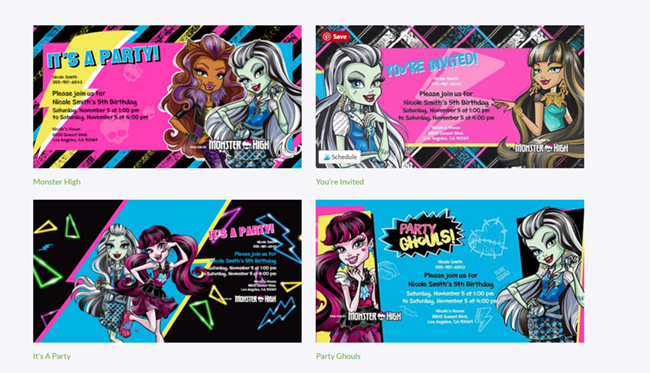 Monster High Invitations from Evite!