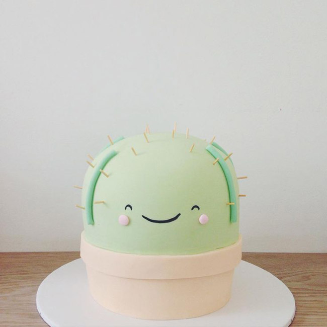 Aww this cactus cake is too cute! - See Lovely & Fun Cactus Ideas on B. Lovely Events