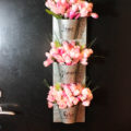 DIY Blooming Spring Wreath -See how to make it on B. Lovely Events