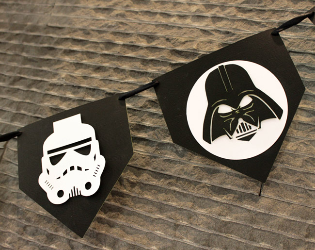 DIY Star Wars Banner May The 4th Be With You - See how to make these dark side characters on B. Lovely Events