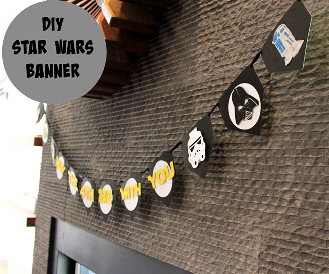 DIY Star Wars Banner from B. Lovely Events