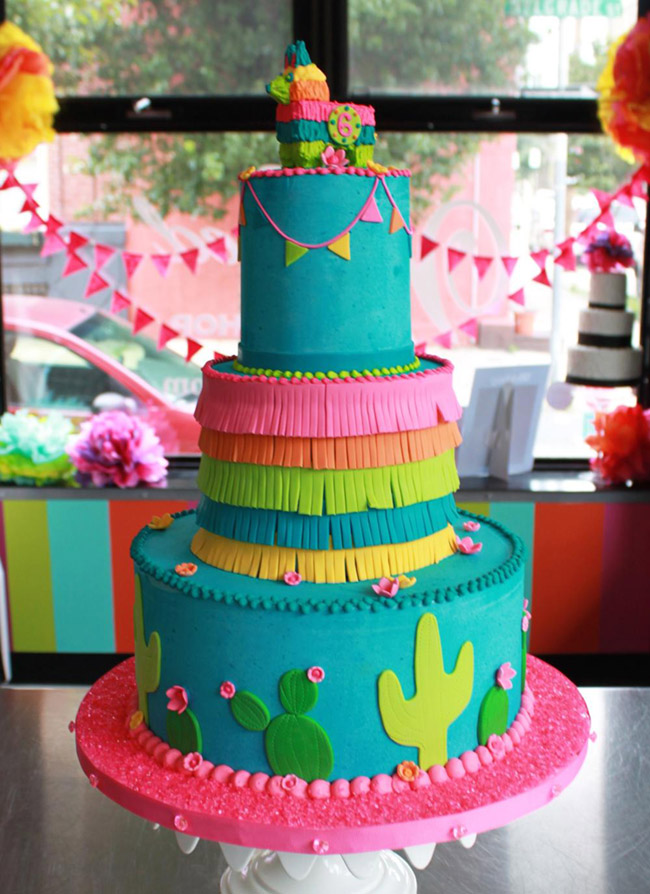 Love these amazing fiesta cake- See More fiesta ideas on B. Lovely Events