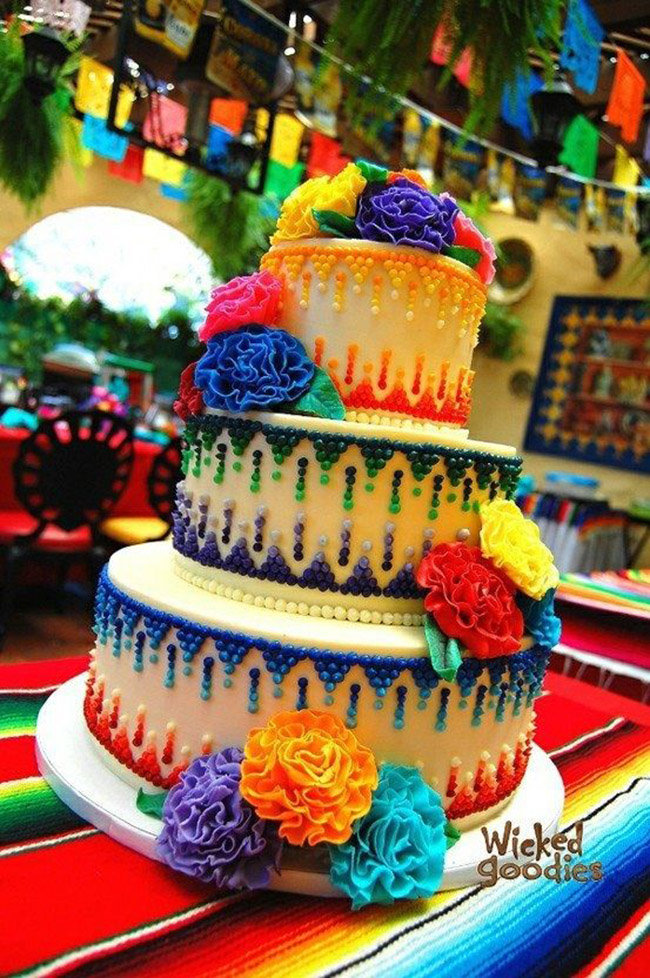 Love this Cinco de mayo cake- See more fiesta ideas on B. Lovely Events