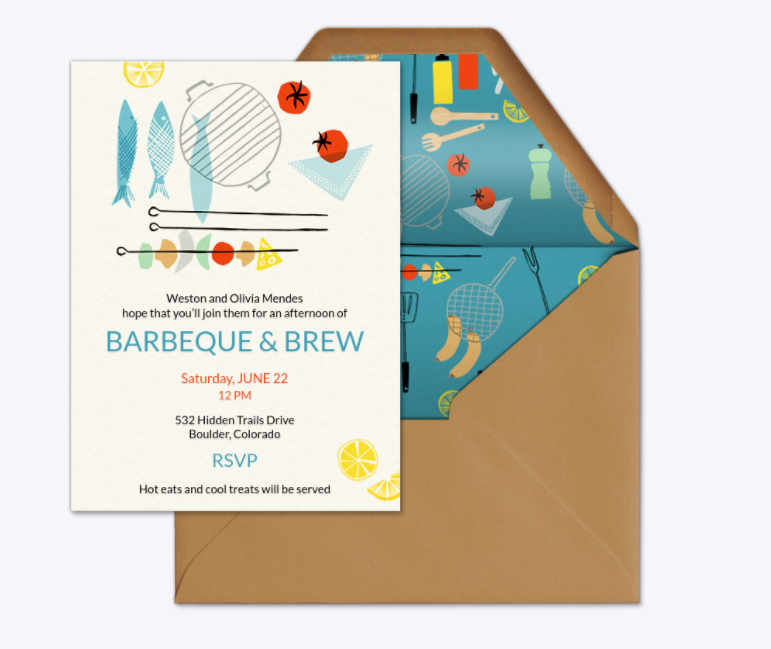 BBQ and brew summer party invite-Evite