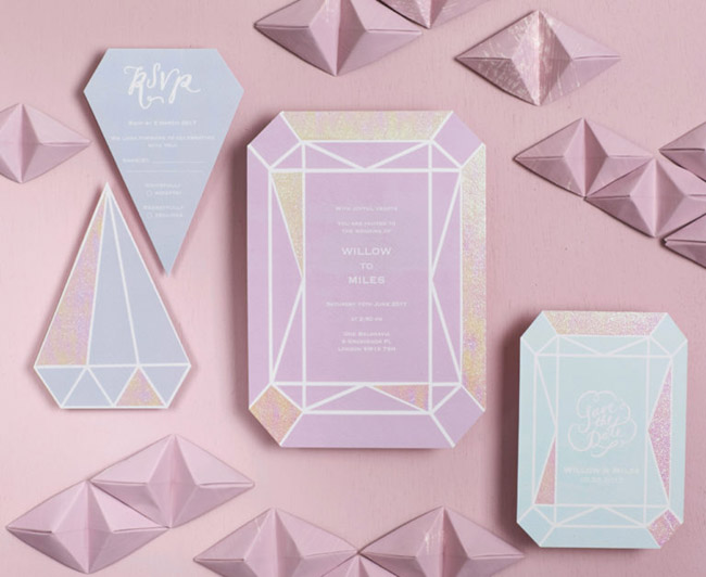 Love these Iridescent Party Invitations - See more iridescent hologram party ideas on B. Lovely Events