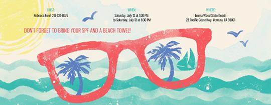 Summer Pool party invitation- Evite