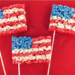 America Flag 4th of July Rice Crispies - See all 8 AWESOME 4th of July Rice Krispy ideas on B. Lovely Events!