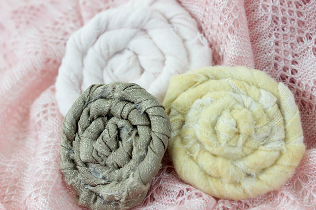 DIY Fabric Flowers Learn How To Make Them Step BY Step on B. Lovely Events!