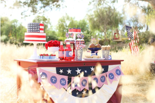 Love this rustic 4th of July party- See 10 of our favorite 4th of July Parties on B. Lovely Events!
