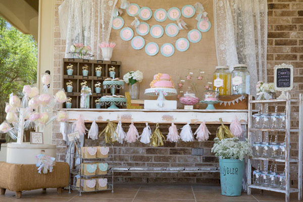 Shabby Chic Girls Birthday party