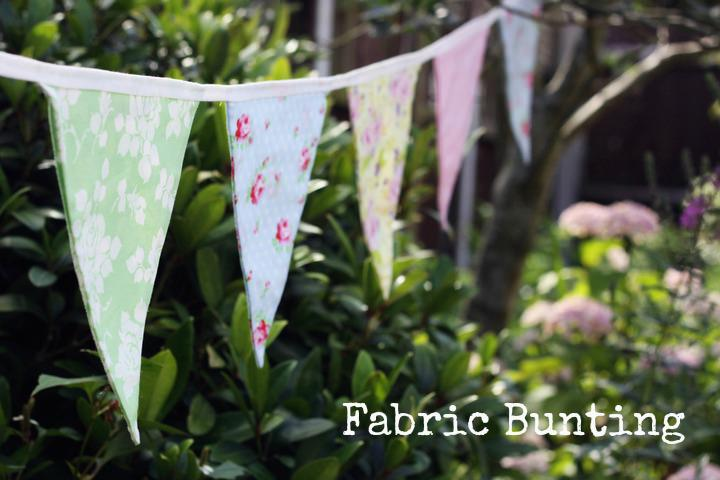 DIY Wedding bunting banner