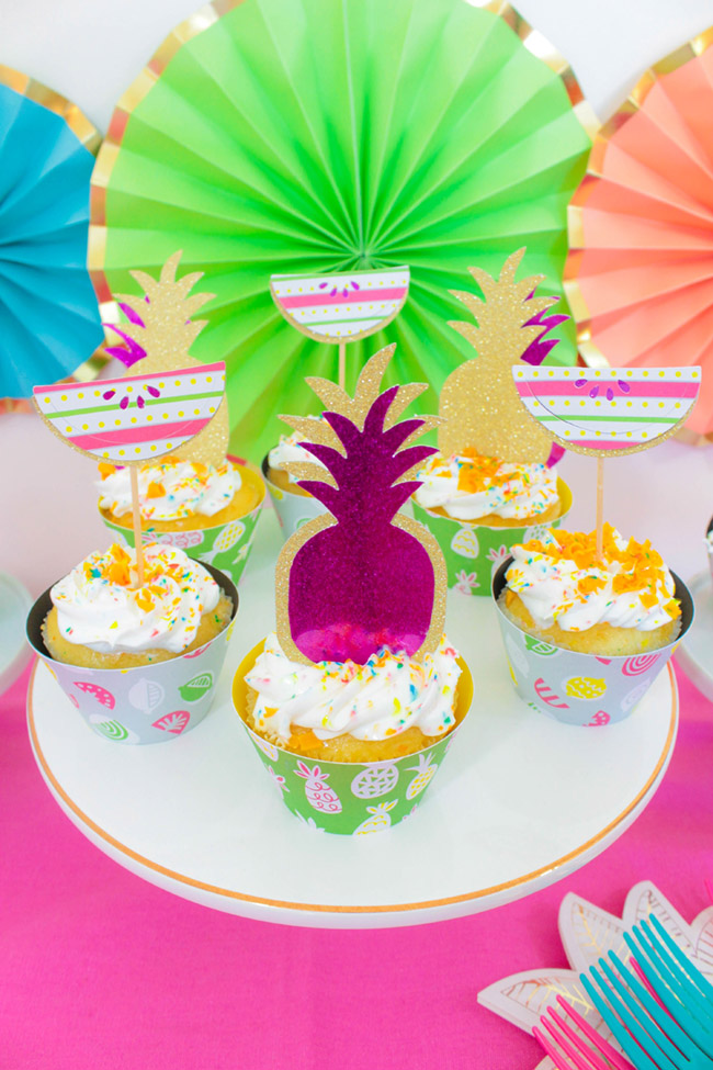 Tutti Frutti Cupcakes- B. Lovely Events