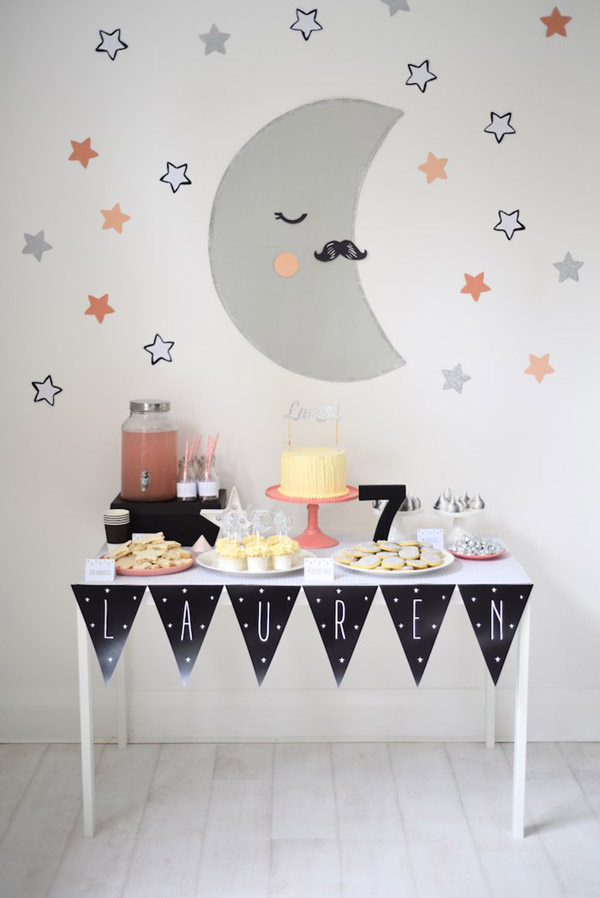 Adorable Star & Moon Party! See more Space, Star and Galaxy party Ideas on B. Lovely Events