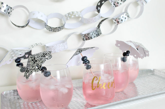 DIY Drink Umbrellas! Learn how to make them on B. Lovely Events! Love these!