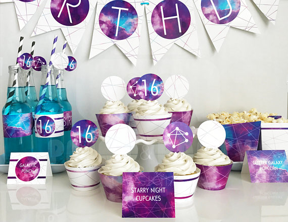 Fun printable galaxy party set! - See more Space, Star and Galaxy party Ideas on B. Lovely Events