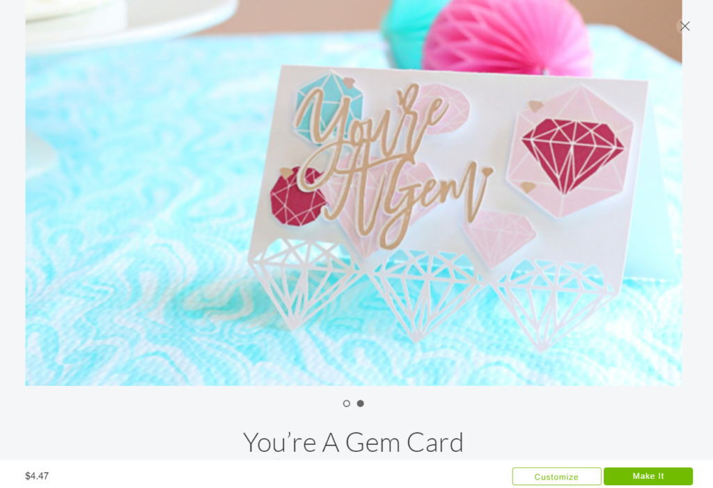 Your a Gem Cricut Card Cricut