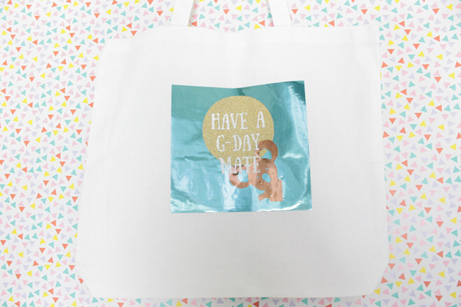DIY Have a G-Day Mate Tote- Learn how to make this on B. Lovely Events!