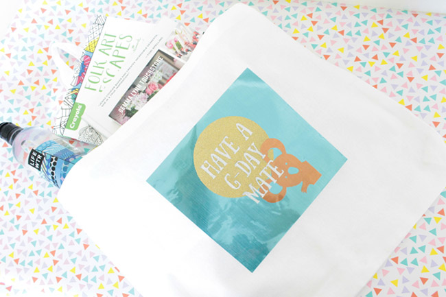 DIY Have a G-Day Mate Tote- So Cute! See how to make it on B. Lovely Events
