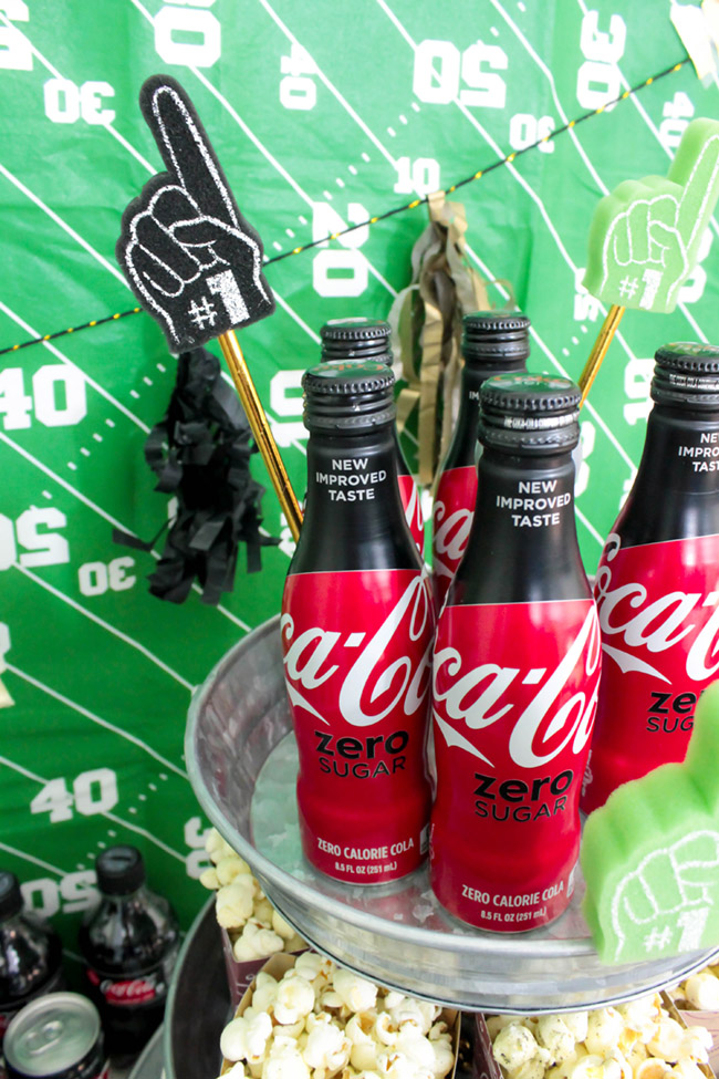 Football drink fun with Coca-Cola-See more Football party details at B. Lovely Events