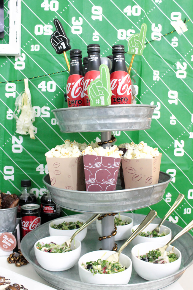 Football party food and drink ideas-See more Football party details at B. Lovely Events
