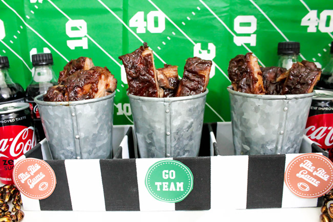 Football party Ribs-See more Football party details at B. Lovely Events