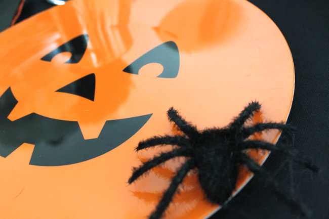 Fun Halloween Plate details- See All Of The Lovely Details On B. Lovely Events