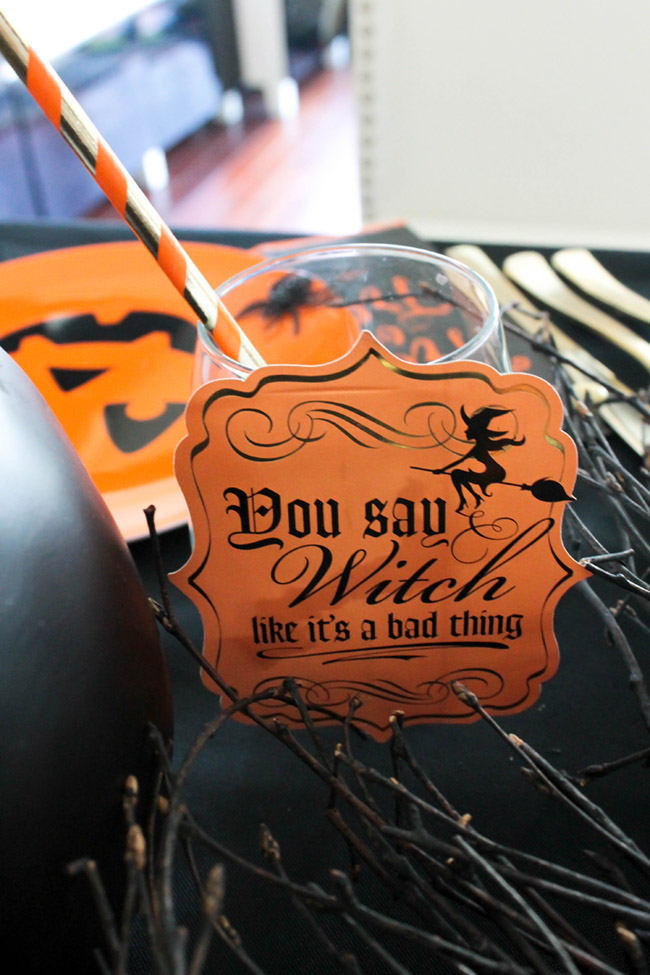 Love these Halloween wine glasses! - See All Of The Lovely Details On B. Lovely Events