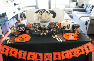 Love this Chic and fun Halloween tablescape! - See All Of The Lovely Details On B. Lovely Events