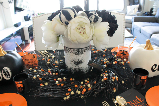 Love this Halloween Tablescape!- See All Of The Lovely Details On B. Lovely Events
