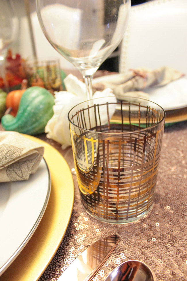Lovely Thanksgiving Tablescape Glasses - B. Lovely Events
