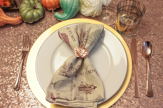 Lovely Thanksgiving Tablescape placesetting - B. Lovely Events