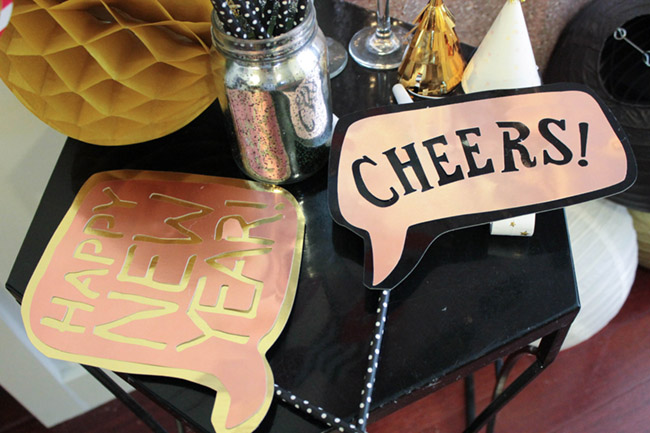 New Year's Eve Photo Booth Props - B. Lovely Events