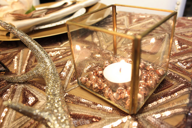 New Year's Eve Tablescape Votive candles- B. Lovely Events