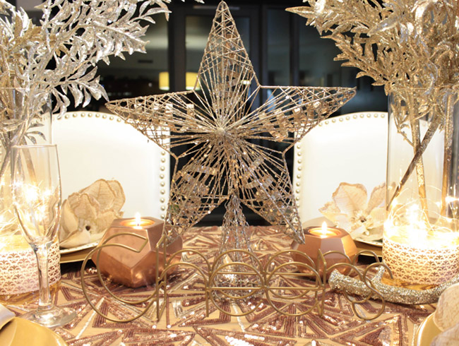 New Year's Eve Tablescape star Centerpiece- So Cute! - B. Lovely Events