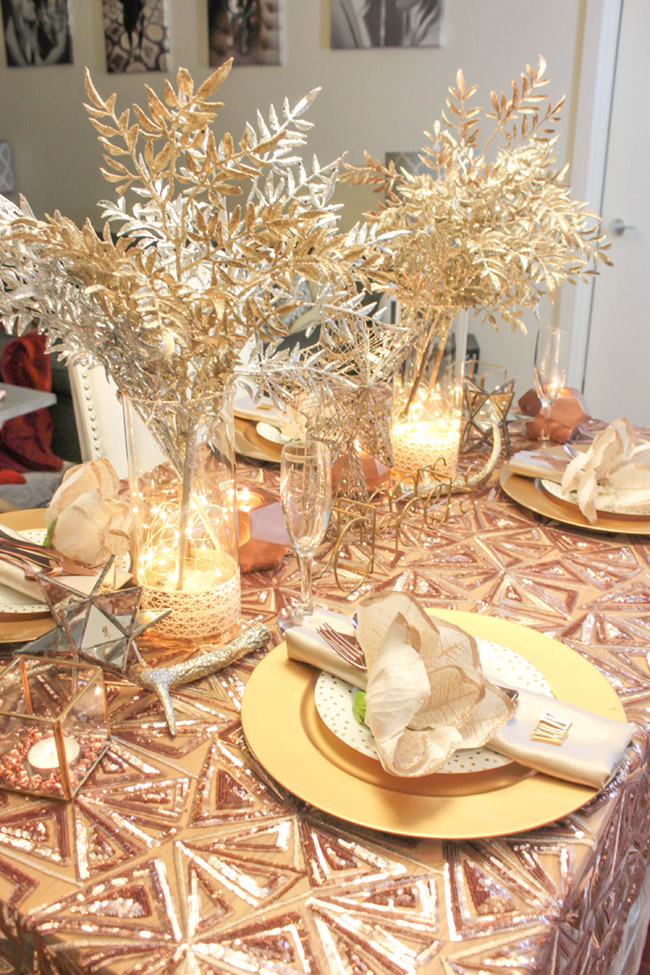 New Year's Eve Tablescape and new years centerpiece- B. Lovely Events