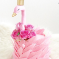 LOVE this pink swan cake- so cute! See More Swan Cakes on B. Lovely Events