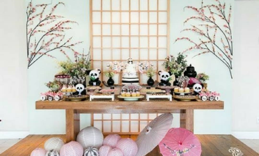 love the pinks in this panda party-See more Panda Party ideas on B. Lovely Events