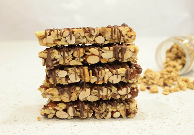 DIY Granola Bars- Get the recipe on B. Lovely Events