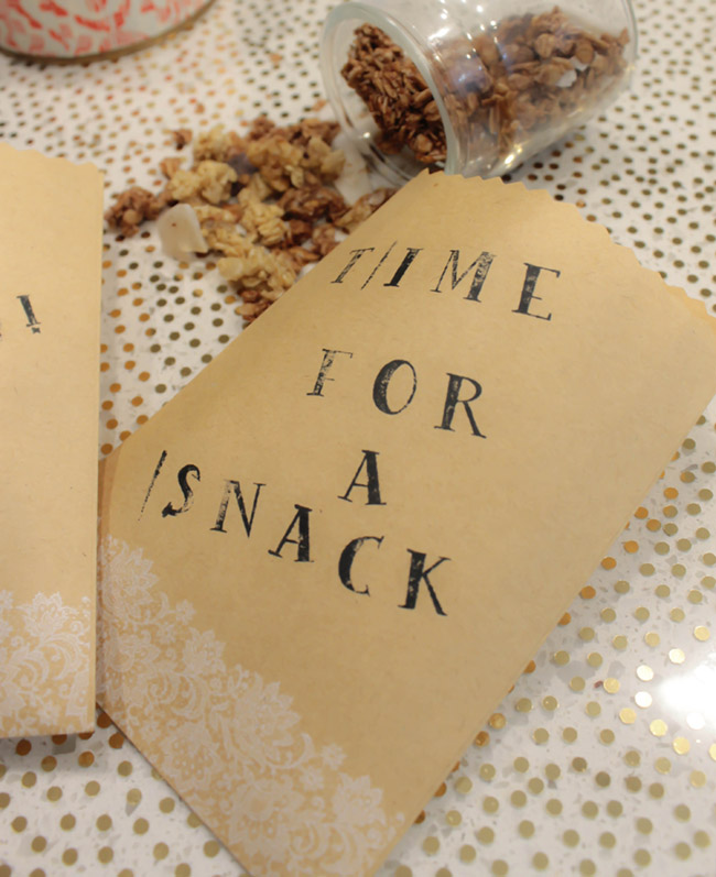 Granola Bite bags - B. Lovely Events