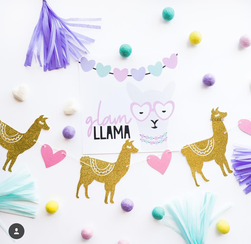 I want a glam llama for my party! - See more llama party love on B. Lovely Events