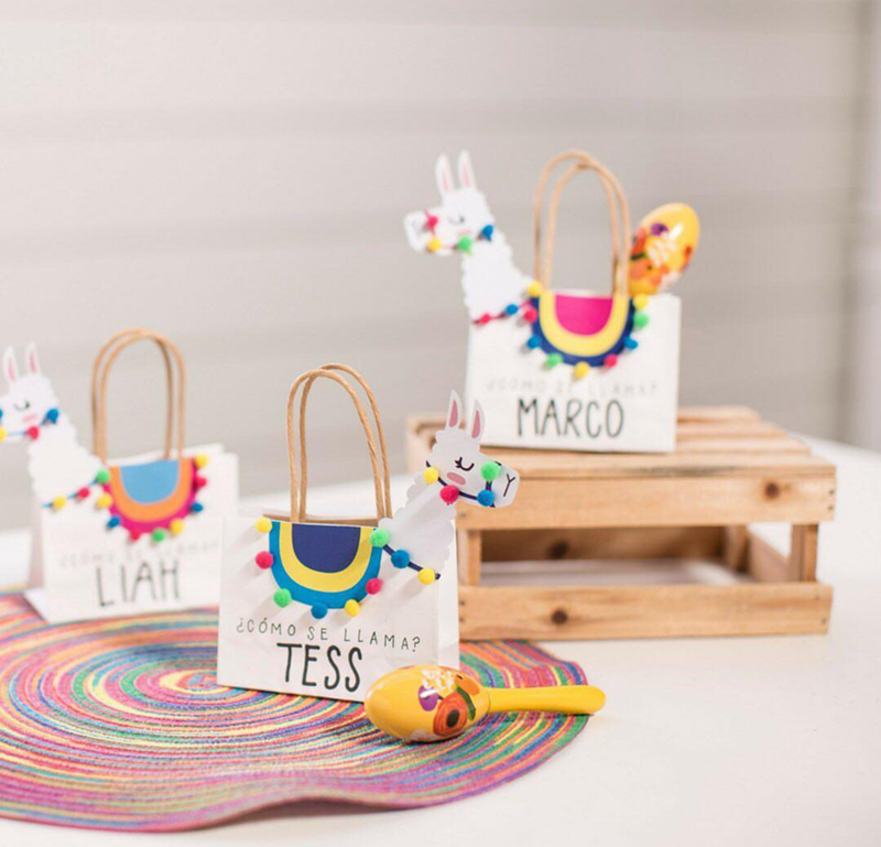 Look how cute these llama party favor bags are! - See more llama party love on B. Lovely Events