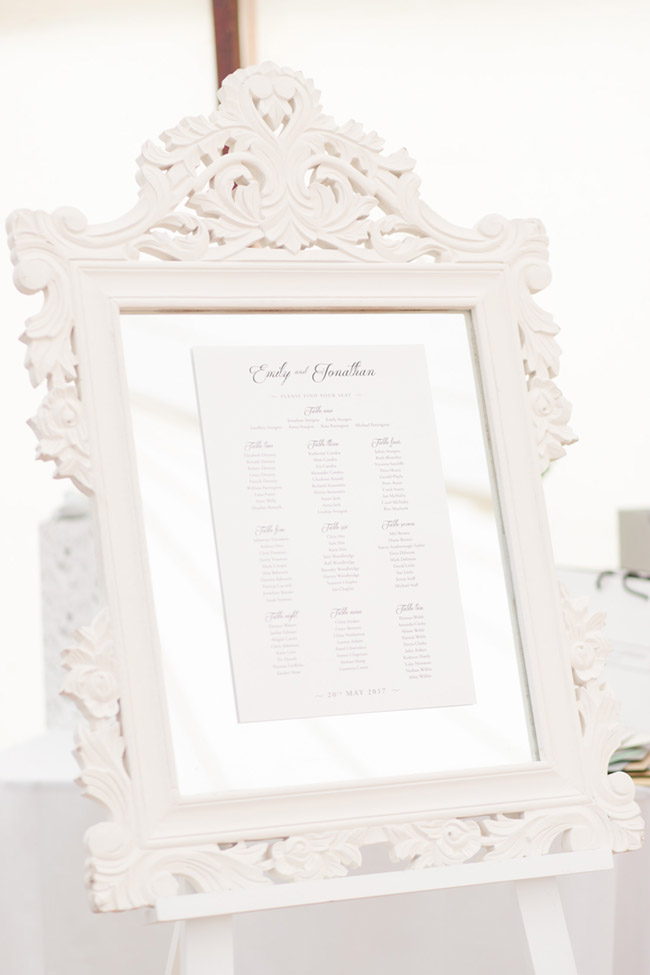 Real Wedding: Emily & Jonathan- See all of the lovely details at B. Lovely Events