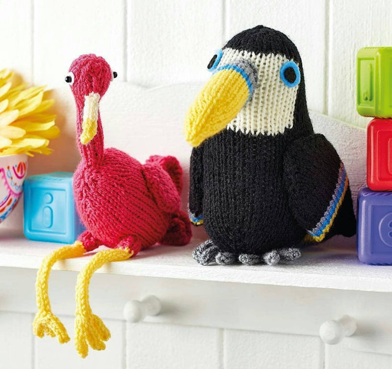 Fun knitted Toucan - See More Toucan Party Ideas at B. Lovely Events