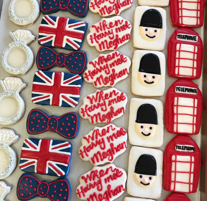 I love these royal wedding cookies! - See More Royal Wedding Lovlieness at B. Lovely Events #royalwedding #partyplanning #partythemes