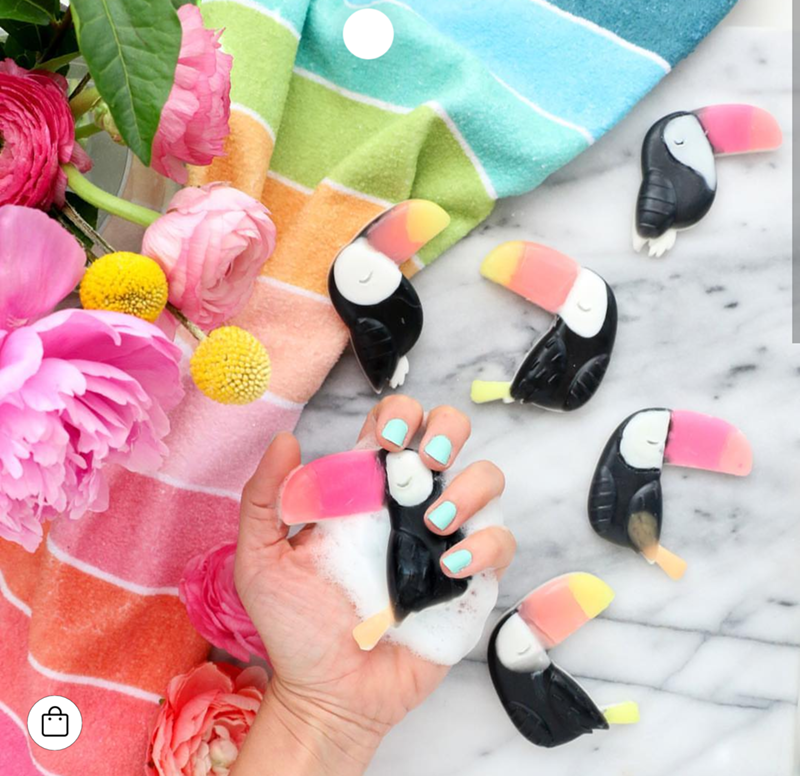 I love these toucans and they are soaps! - See More Toucan Party Ideas at B. Lovely Events