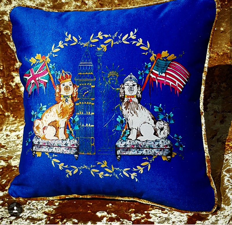 I love this royal wedding pillow!- See More Royal Wedding Lovlieness at B. Lovely Events #royalwedding #partyplanning #partythemes