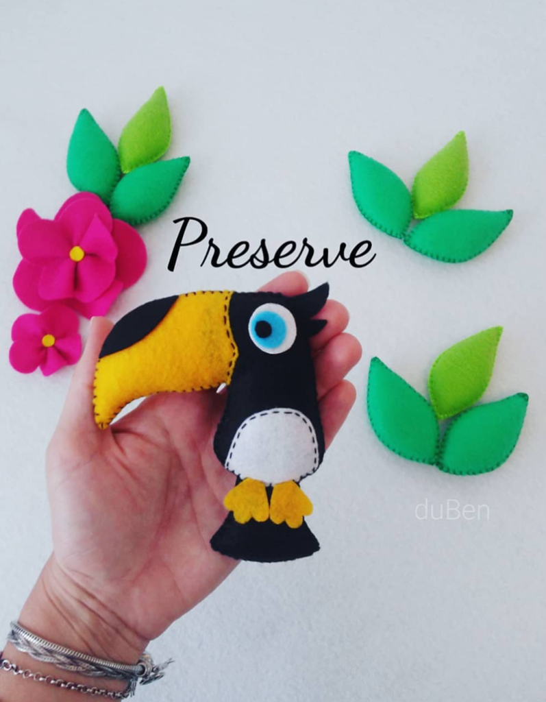 Love this handmade toucan - See More Toucan Party Ideas at B. Lovely Events