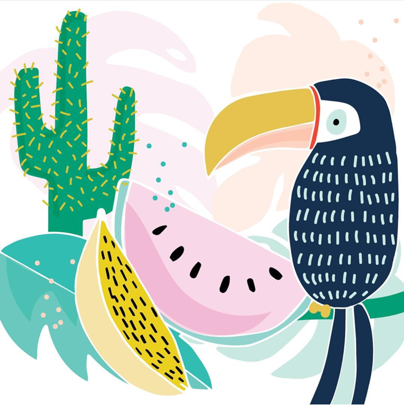 Love this toucan graphic design - See More Toucan Party Ideas at B. Lovely Events
