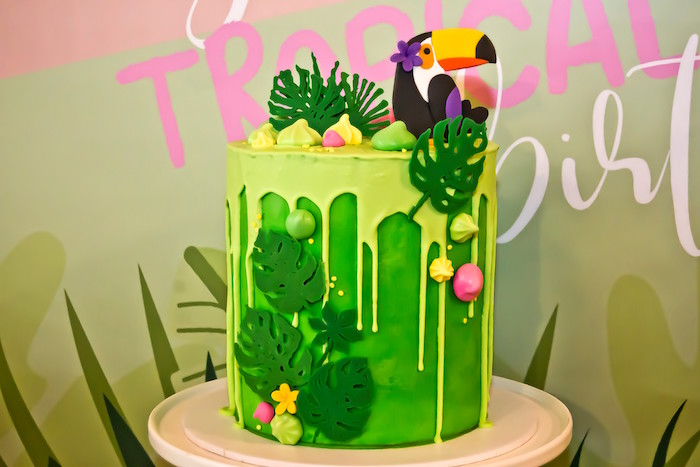 Lovely Toucan party cake! - See More Toucan Party Ideas at B. Lovely Events